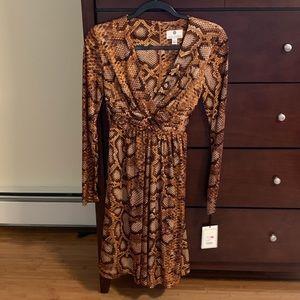 Snake skin print dress - nwt